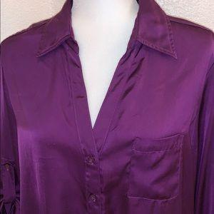 Apt 9 Purple V-Neck Blouse